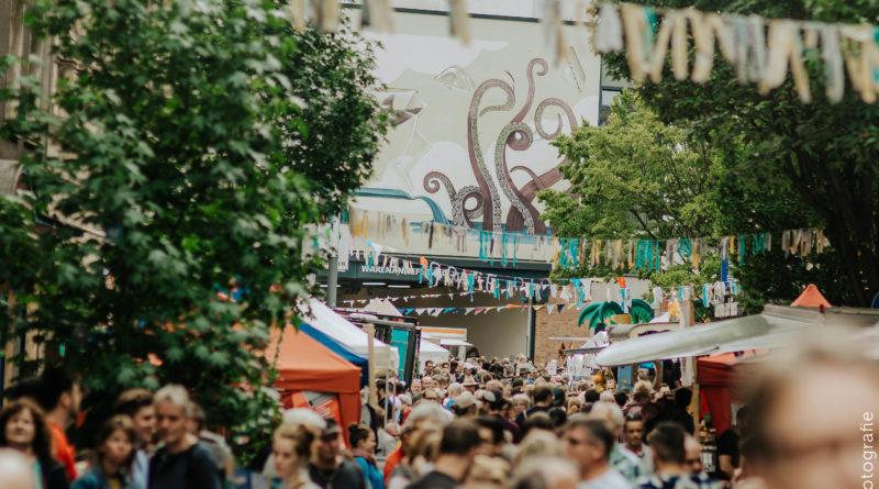 Das Wiesenviertelfest im der Hammerstraße. (Foto: Dana Schmidt)